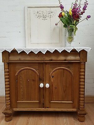 Gorgeous Antique Stripped Pine Sideboard - C1920