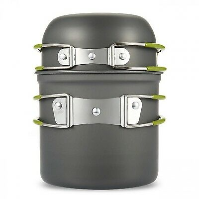 Picnic Thermos Pot Tableware Backpacking Pan Outdoor Camping Hiking Cookware