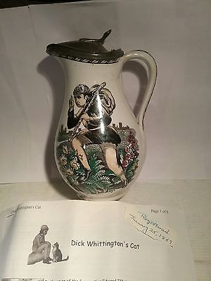 """C.1869 This Is A  6.5"""" Unique Antique Creamer Syrup Pitcher/ Pewter Hallmarked"""