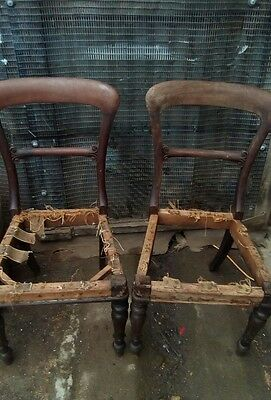 Pair of Antique Balloon Back Chairs Upholstery Project