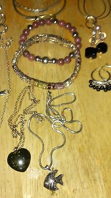Vintage & Now Sterling Silver Scrap/Wear Jewelry Lot