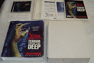X-Com Ufo Defense Terror From The Deep Pc Ibm Micro Prose Complete In Box 1995
