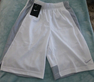 Nike Boys Monster Mesh White Short Size L New With Tags