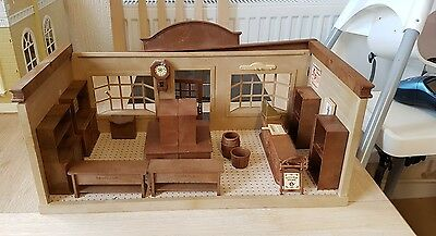 sylvanian families village store vintage with furniture
