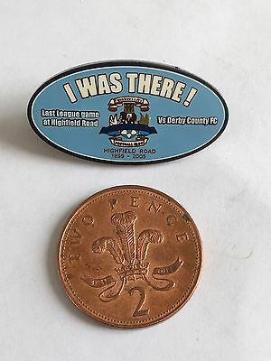 Coventry City Football Club Last Game At Highfield Rd 2005 v Derby Badge