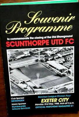 Scunthorpe V Exeter 2/5/1988 Last League  Game @ Old Show Ground