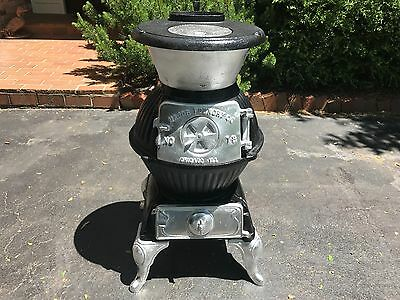 Antique Pot Belly Cast Iron Stove!