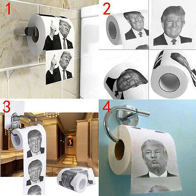 Donald Trump Hillary Clinton Toilet Paper Soft Home Tissue Roll Funny Gag Gifts