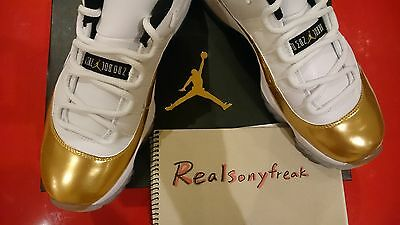Nike Air Jordan XI 11 Retro Low METALLIC GOLD w/ Receipt Size UK8.5 US9.5