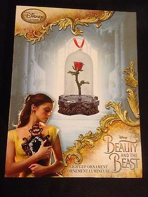 Disney Store Beauty And The Beast Light Up Enchanted Rose Ornament Live Action