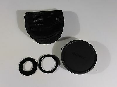 Sony Wide End Conversion Lens X0.7 VCL-MHG07 W/Case and Adapter Rings
