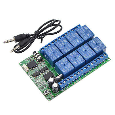 AD22A08 8CH DTMF Audio Decoding Relay Remote Control Module Intellective New