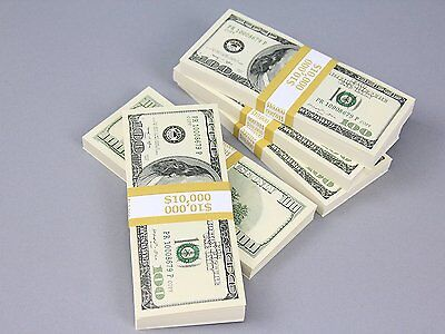 PROP MONEY Real Looking Copy $100s FULL PRINT Pack - Total $50,000 for Movie, &