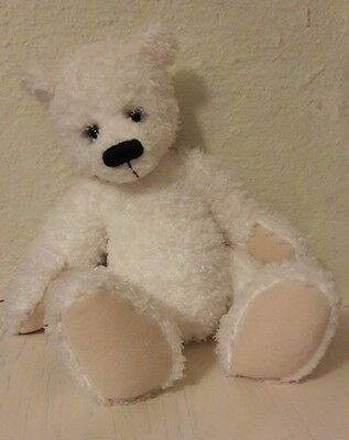 RUSS Polar Bear Soft Toy Teddy 'Pebbles' White Lovely Smiley Face