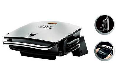 George Foreman 14525 Four Portion Family Grill & Melt with Removable Plates MINT