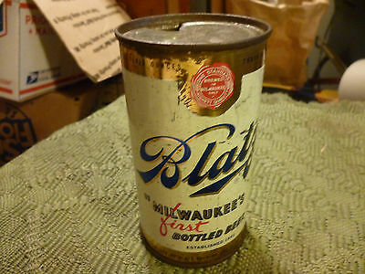 Vintage Flat Top Blatz Beer Can 12 oz. Milwaukee's First Bottled Beer Old