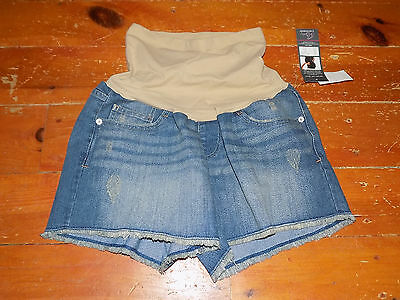 OH BABY by MOTHERHOOD Maternity Distressed Mini Short Shorts Medium NWT! $40