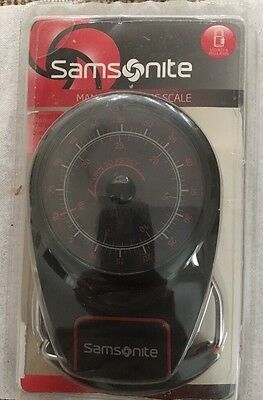 Samsonite Manual Luggage Scale #49515-1733 (Red/black) New