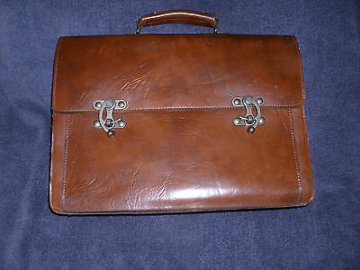Vintage Salisbury Leather Stationery Small Brief Attache Case In Great Condition