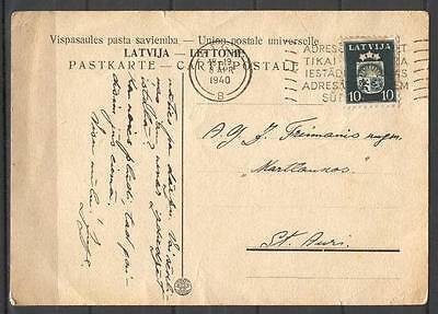 JuO A29 Latvia 1940 document post card doctor Francmanis