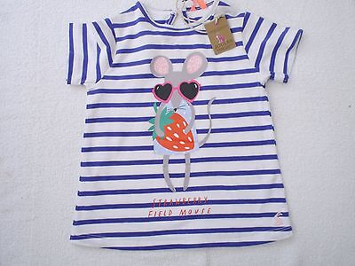 NEW Baby Girls Joules Stripe (INF PIXIE) Mouse T-shirt 18-24mths