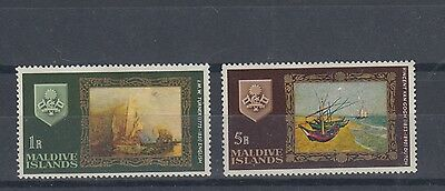 Maldive Islands 1968 Paintings Short Set Mint Hinged (#1610)