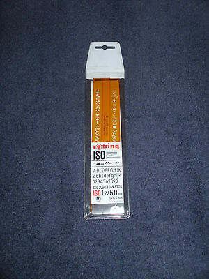 Vintage Rotring Iso Lettering Stencil - Bv 5 Mm - New Old Stock