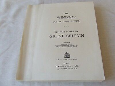 Stanley Gibbons Windsor Great Britain Album Leaves Machin 1971-90,very Good Cond