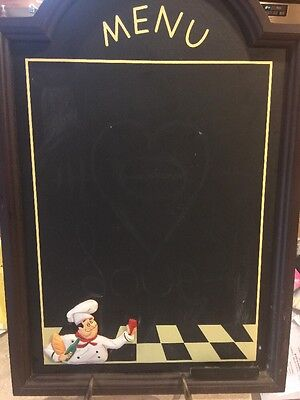 """Large Chef Chalkboard Menu 24""""X16"""" With Metal Easel Stand"""