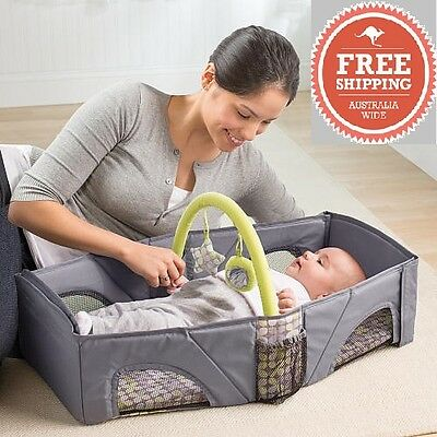 Summer folding Portable Lightweight Baby Infant Travel Bassinet Cot Portacot Bed
