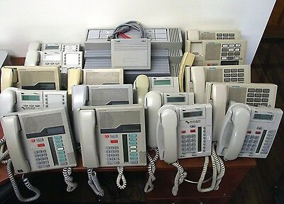Complete Nortel Business Phone System - 16 Phones + Analog Adapter + ICS