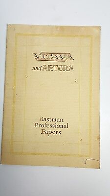 Vitava and Artura Photographic Papers w/ formulas ~ Eastman Professional Papers