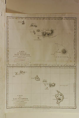 La Perouse charts of the Sandwich Islands,1799 London, GG & J Robinson, Cook,map