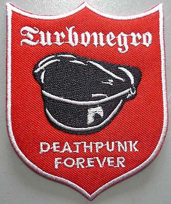 TURBONEGRO Deathpunk red embroided patch Turbojugend Motorhead Hellacopter