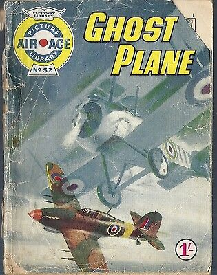 Air Ace Picture Library #52 Ghost Plane Fleetway War comic books British 1960's