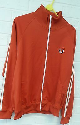 Vintage Fred Perry Tan Track Suit Jacket Size M