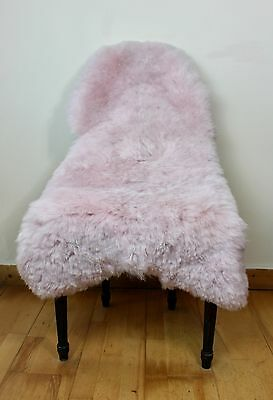 BEST SELLER Large Genuine Icelandic Dyed Light Pink Sheepskin Shorn Real Fur Rug