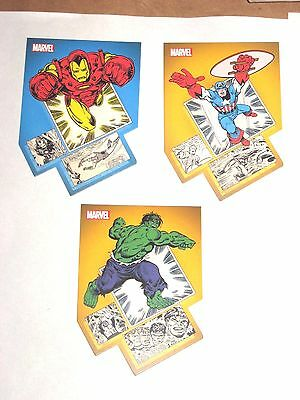 2014 MARVEL 75TH ANNIVERSARY DIE CUT CHASE Insert 3 CARD LOT! PB1 PB2 PB7 HULK!