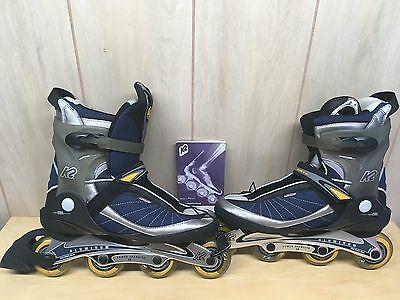 K2 Exotech Inline Skates Men's Size 12 Dark Blue & Silver NEW NEVER USED