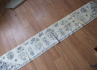 Antique Blue White Chinese style Hand Made Embroidered Valance