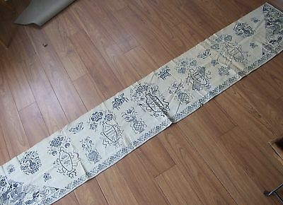 TWO Antique Blue White Chinese style Hand Made Embroidered Valances