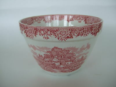 "Antique Alfred Meakin Staffordshire Red Transferware 6 ¼"" Pudding Basin Bowl"