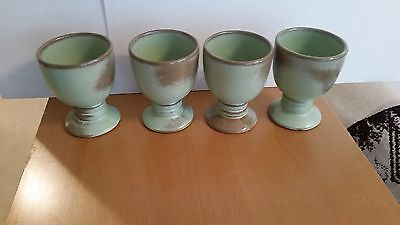 Frankoma 26LC Prarie Green Goblets set of 4 Mint and Never Used