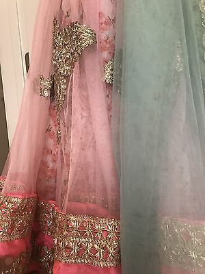 Indian Bollywood Floral Lace Lengha Choli Small / Medium