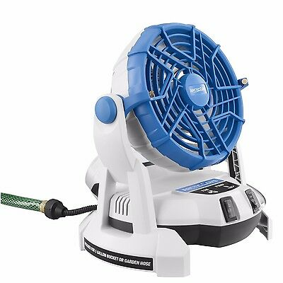 Arctic Cove 18-Volt Two Speed Misting Bucket Top Fan Portable Sports Picnics