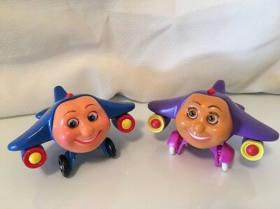 PBS Kids Jay Jay The Jet Plane & Tracy Wooden Airplane Lot