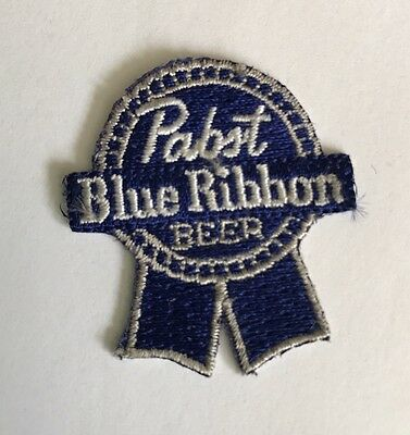 Vintage Authentic Pabst Blue Ribbon Beer Embroidered Patch