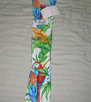 Nwt Scrubs Of Key West Stethoscope Cover Parrot Head Print