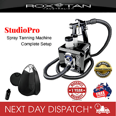 New Quiet HVLP UltraFine Needle Tip Spray Tanning Machine and Black Tent Package