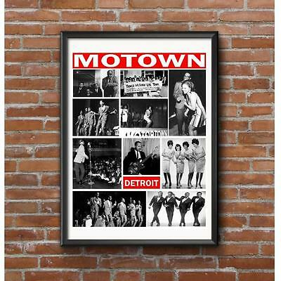 Detroit Era Early 1960's Music Tribute Poster